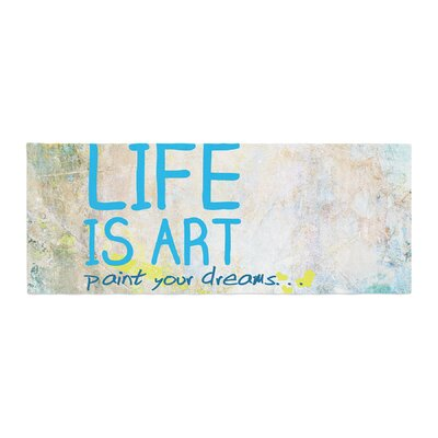 Life Is Art Bed Runner