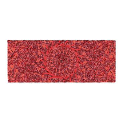 Patternmuse Mandala Spin Romance Geometric Bed Runner