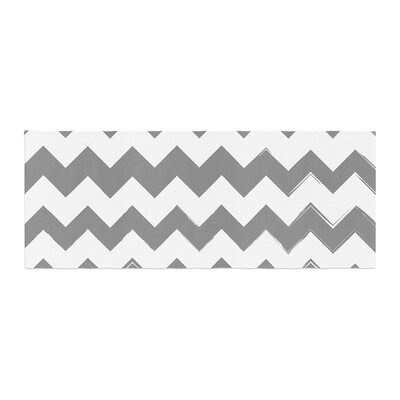 Candy Cane Chevron Bed Runner Color: Gray