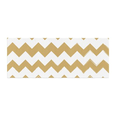 Candy Cane Chevron Bed Runner Color: Gold