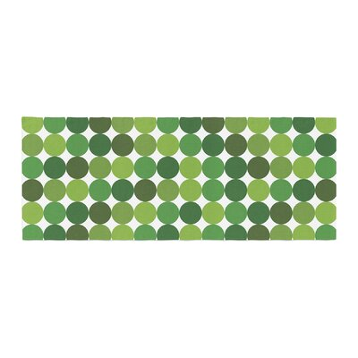 Noblefur Dots Bed Runner Color: Green