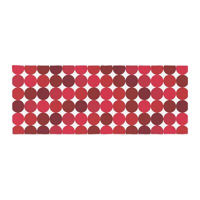 Noblefur Dots Bed Runner Color: Red