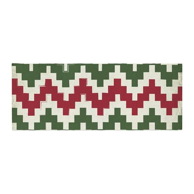 Christmas Gram Chevron Bed Runner