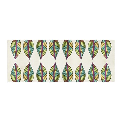 Pom Graphic Design Tribal Leaves Bed Runner