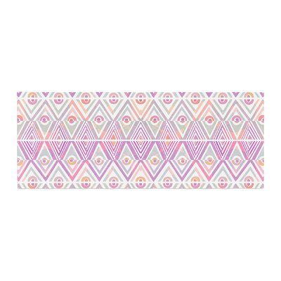 Pom Graphic Design Soft Petal Tribal Bed Runner