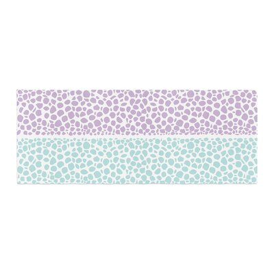 Pom Graphic Design Riverside Pebbles Bed Runner Color: Purple/Teal