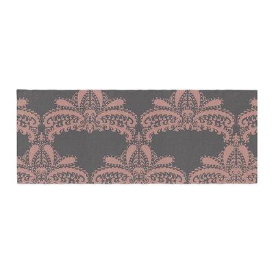 Nandita Singh Decorative Motif Floral Bed Runner Color: Pink/Bronze