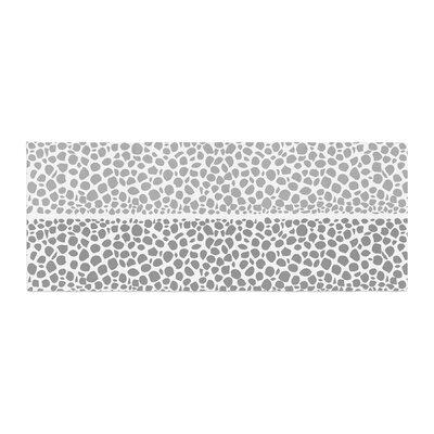 Pom Graphic Design Riverside Pebbles Bed Runner Color: Gray/White