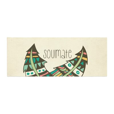 Pom Graphic Design Soulmate Feathers Bed Runner