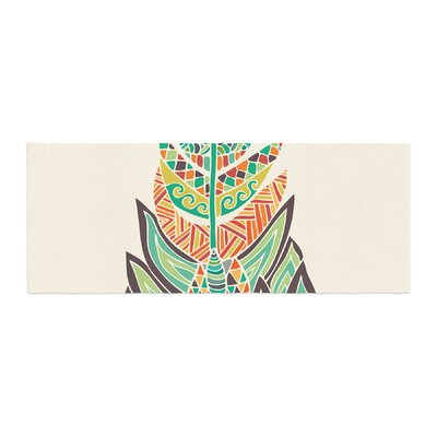Pom Graphic Design Tribal Feather Bed Runner