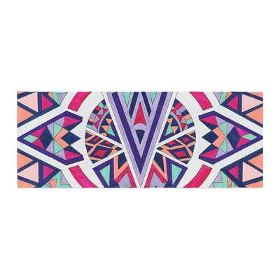 Pom Graphic Design Abstract Journey Circular Tribal Bed Runner
