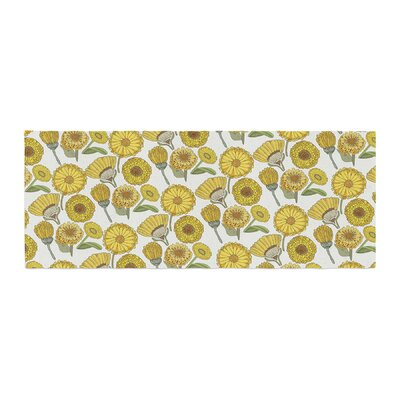 Pom Graphic Design Calendula Flowers Tags Bed Runner