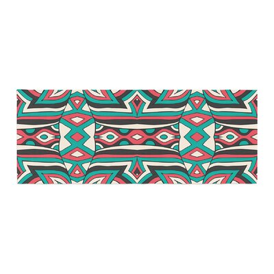 Pom Graphic Design Ethnic Floral Mosaic Bed Runner