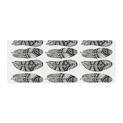 Pom Graphic Design Wild Feathers Illustration Bed Runner