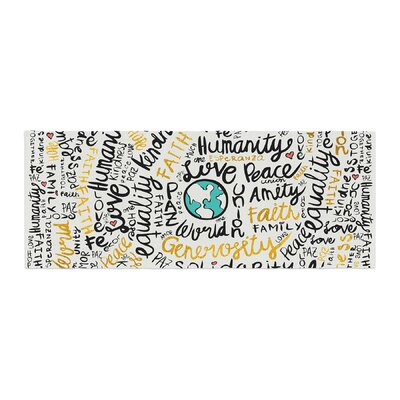 Pom Graphic Design Positive Messages Illustration Bed Runner