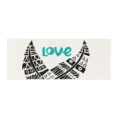 Pom Graphic Design United Love Tribal Bed Runner