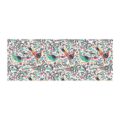Pom Graphic Design Otomi Folk Birds Illustration Bed Runner