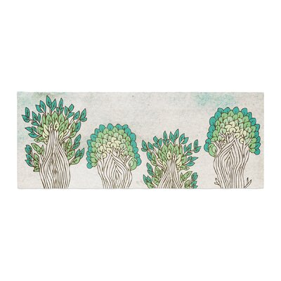 Pom Graphic Design Amazon Trees Nature Bed Runner