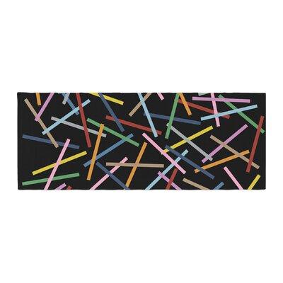Project M Sprinkles Bed Runner Color: Black