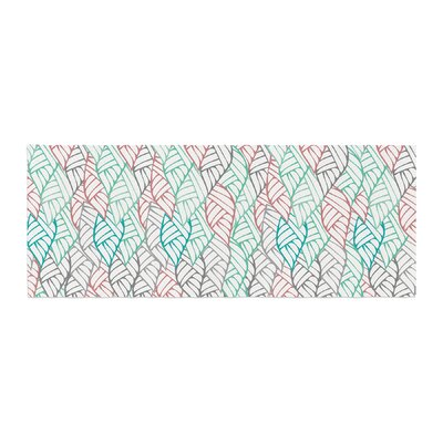 Pom Graphic Design Ethnic Leaves Bed Runner