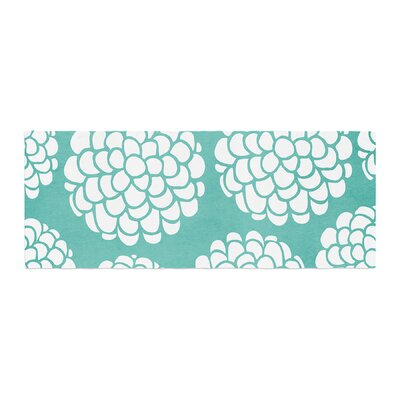 Pom Graphic Design Hydrangeas Blossoms Circles Bed Runner
