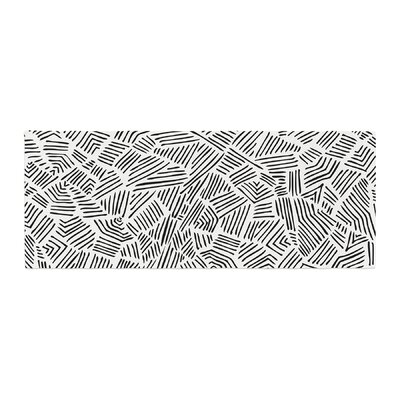 Pom Graphic Design Inca Lines Illustration Bed Runner