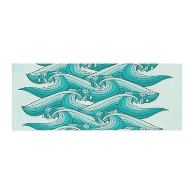 Pom Graphic Design Ocean Retro Vibes Bed Runner