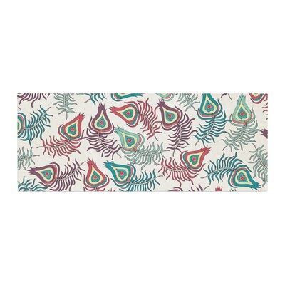 Pom Graphic Design Peacock Feathers Pattern Bed Runner