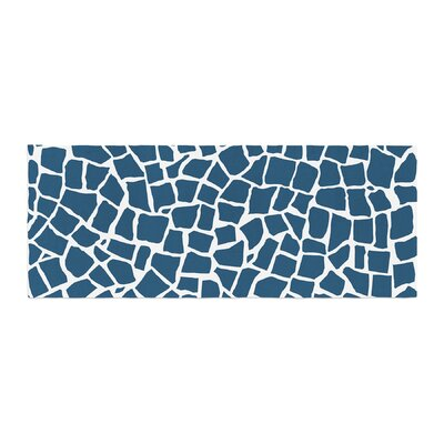 Project M British Mosaic Bed Runner Color: Navy