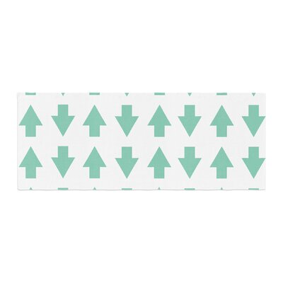Project M Arrows Up and Down Bed Runner Color: Mint