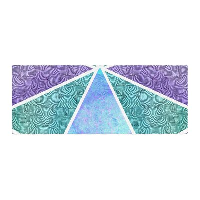 Pom Graphic Design Reflective Pyramids Bed Runner