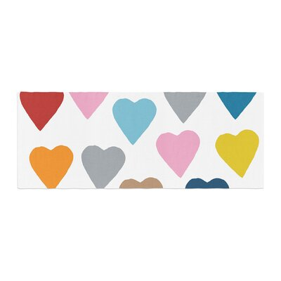 Project M Colorful Hearts Bed Runner
