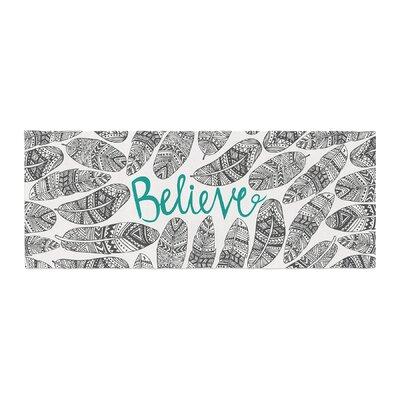 Pom Graphic Design Believe Bed Runner
