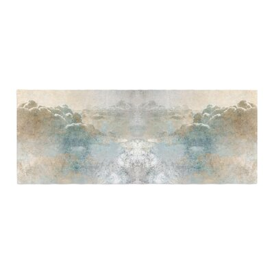 Pia Heaven II Mixed Mediia Abstract Bed Runner