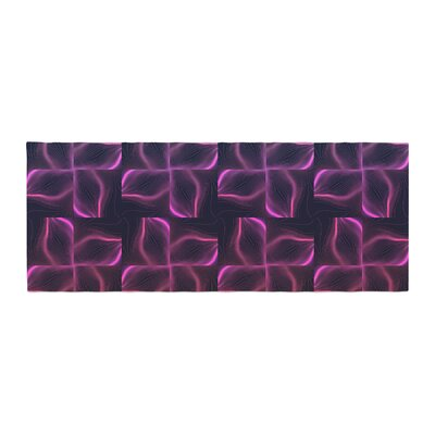 Pia Schneider Colorful Floral Line Vibes Vector Bed Runner
