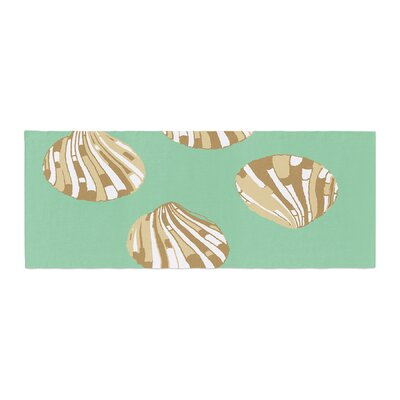 Rosie Brown Scallop Shells Bed Runner