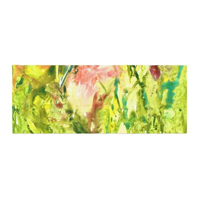 Rosie Brown Thumb Paint Lime Bed Runner