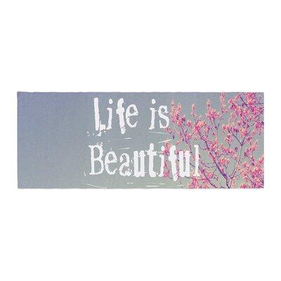 Rachel Burbee Life is Beautiful Bed Runner