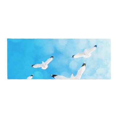 Robin Dickinson Fly Free Birds Sky Bed Runner