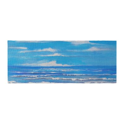 Rosie Brown Sanibel Island Coastal Painting Bed Runner