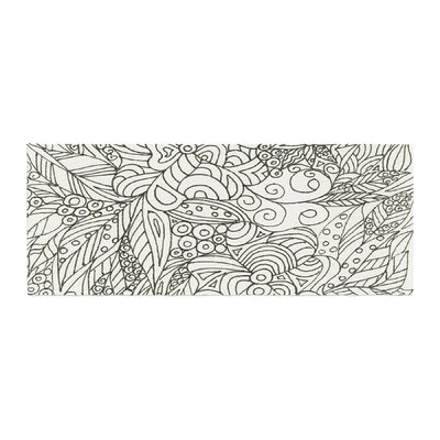 Rosie Brown Zentangle Garden Zentangle Bed Runner