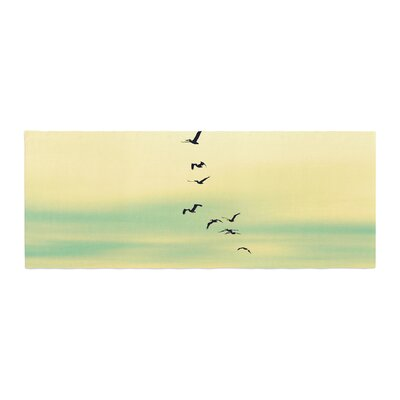 Robin Dickinson Across the Endless Sea Birds Bed Runner