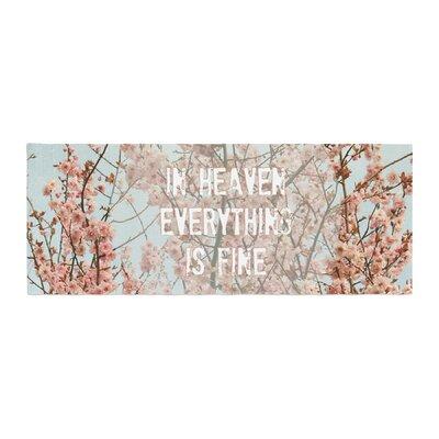 Robin Dickinson In Heaven Cherry Blossom Bed Runner