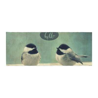 Robin Dickinson Hello Birds Typography Bed Runner