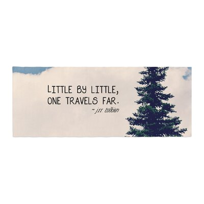 Robin Dickinson Little by Little Clouds Typography Bed Runner