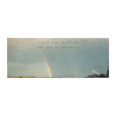 Robin Dickinson Count Rainbows Nature Typography Bed Runner