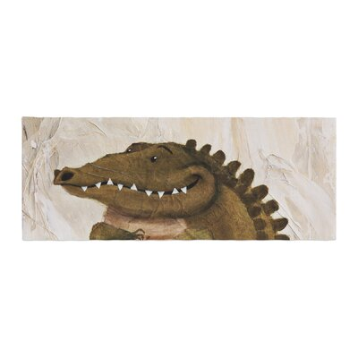 Rachel Kokko Smiley Crocodiley Bed Runner