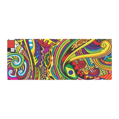 Roberlan Doodle Abstract Bed Runner