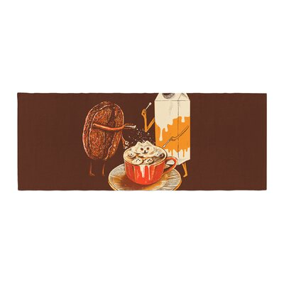 BarmalisiRTB Latte Art Illustration Bed Runner