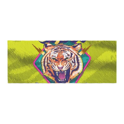 Roberlan Super Furry Tiger Warrior Bed Runner
